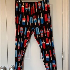 Popsicle print Capri leggings